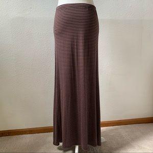 Eight Sixty striped maxi skirt